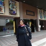 Outside Shinbashi Enbujo kabuki theater